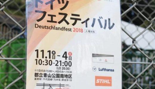 【レポート】ドイツフェスティバル2018に行ってきました!