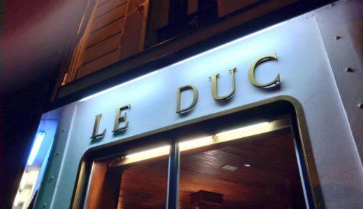 【パリ・フレンチ】Le Duc 〜年末のパリで新鮮な海の幸を堪能♪