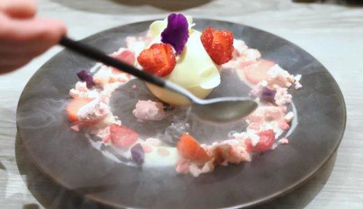 【銀座・カフェ】ボンボヌール 〜 銀座三越内でいただく、バラとイチゴ香る美しいデザート♪